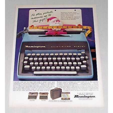 1960 Remington Quiet-Writer Eleven Typewriter Color Print Ad