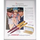 1942 Eversharp Pen Presentation Set Color Wartime Print Ad