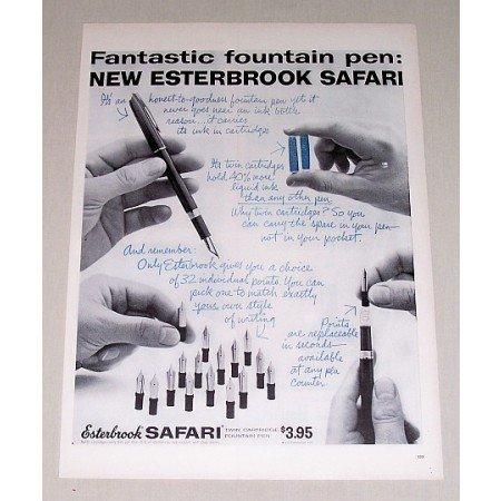 1958 Esterbrook Safari Twin Cartridge Fountain Pen Print Ad