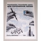 1958 Esterbrook Safari Twin Cartridge Fountain Pen Print Ad