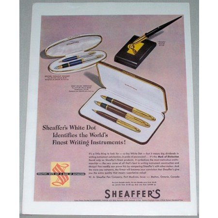 1948 Sheaffer's White Dot Pen Pencil Sets Color Print Ad
