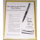 1962 Parker 45 Fountain Pen Color Print Ad
