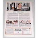 1949 Metropolitan Life Insurance Color Art Print Ad - Ready For School