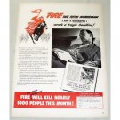 1948 Fire Underwriters Color Print Ad - The Fifth Horseman