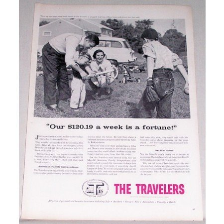 1956 The Travelers Insurance Company Print Ad