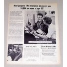 1959 New York Life Insurance Print Ad