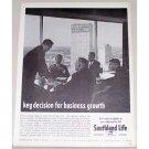 1962 Southland Life Insurance Company Print Ad - Key Decision