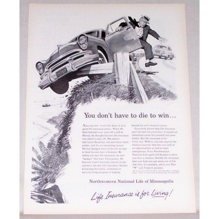 1954 Northwestern National Life Insurance Art Print Ad