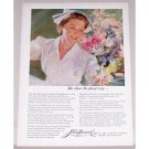 1954 John Hancock Life Insurance Spreler Art Nursing Color Print Ad