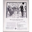 1953 American Mutual Insurance Art Print Ad - Turn Wood Into Gold
