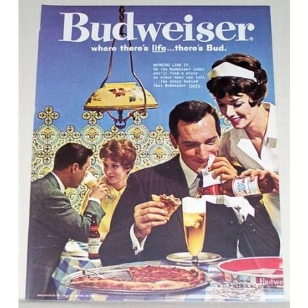 1961 Budweiser Beer Color Brewery Print Ad - Nothing Like It