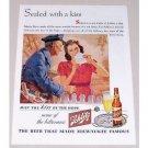 1944 Schlitz Beer Postal Mailman Rosen Art Color Print Ad