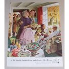 1954 Beer Belongs Series #100 Color Art Print Ad - Home Life in America