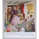 1954 Beer Belongs Series #100 Color Art Print Ad - Home Life in America
