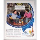 1948 Pabst Blue Ribbon Beer Color Print Ad Celebrity Gary Cooper