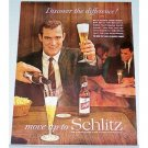 1961 Schlitz Beer Color Print Ad - National Tavern Month