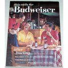 1963 Budweiser Beer Color Print Ad - After Bowling