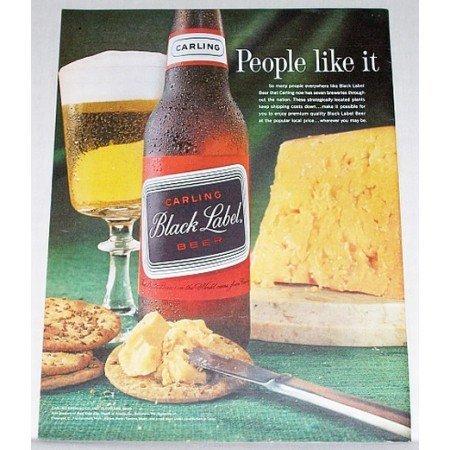1963 Carling Black Label Beer Color Print Ad