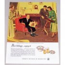 1949 Beer Belongs Series #28 Art Color Print Ad - Meeting Her Parents