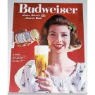 1961 Budweiser Beer Color Print Ad - No Blarney