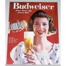 1961 Budweiser Beer Color Print Ad - No Blarney