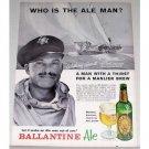 1962 Ballantine Ale Print Ad Celebrity Yachtsman William Snaith
