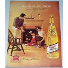 1962 Miller High Life Beer Color Print Ad