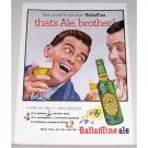 1955 Ballantine's Ale Color Print Ad - Thats Ale, Brother