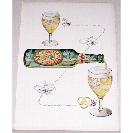 1948 Ballantine's Ale Color Print Ad