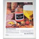 1965 Carling Black Label Beer Color Print Ad - Flavor For Life