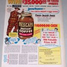 1953 Nescafe Coffee Color Print Ad Celebrity Jackie Gleason