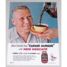 1955 Nescafe Instant Coffee Color Print Ad - Coffee Hunger