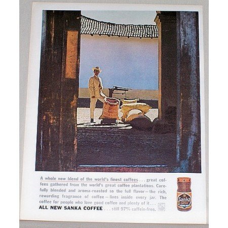 1962 Sanka Coffee Color Print Ad - A Whole New Blend