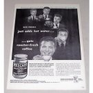 1946 Nescafe Coffee Print Ad Celebrity Dick Powell