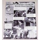 1940 Chase & Sanborn Coffee Print Ad - Kansas Student Pilots