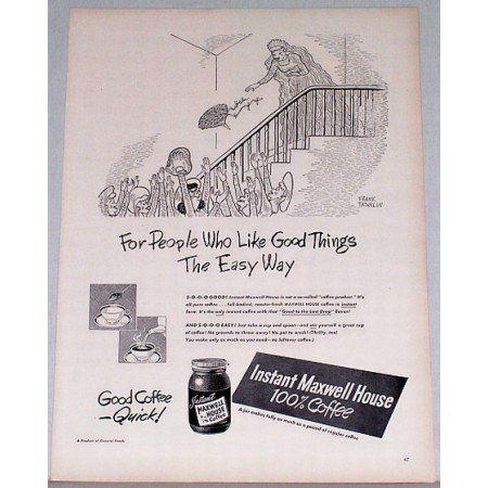 1948 Maxwell House Instant Coffee Print Ad - The Easy Way
