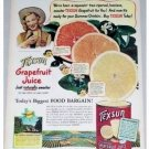 1948 Texsun Grapefruit Juice Color Print Ad - Summer Drinkin