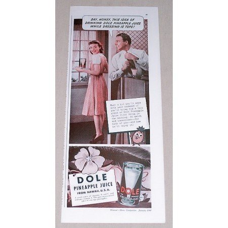 1941 Dole Pineapple Juice Color Print Ad