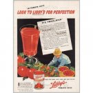 1945 Libby's Tomato Juice Gardening Art Color Print Ad