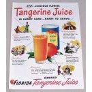 1947 Florida Tangerine Juice Color Print Ad