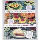 1947 Dole Pineapple Juice Color Print Ad