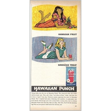 1959 Hawaiian Punch Color Hawaii Art Print Ad