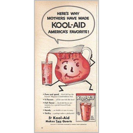 1958 Kool Aid Instant Drink Color Print Ad
