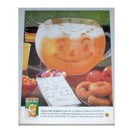 1961 Kool Aid Instant Drink Color Print Ad - Host Of Ghosts