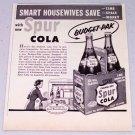 1953 Canada Dry Budget-Pak Spur Cola Vintage Beverage Print Ad