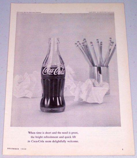 1959 Coca Cola Soda Beverage Coke Print Ad