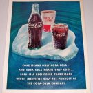 1960 Coca Cola Coke Color Soda Drink Print Ad