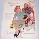 1957 Pepsi Cola Soda Color Art Print Ad