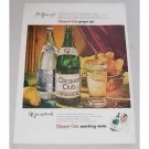 1948 Clicquot Club Ginger Ale Sparkling Water Color Print Ad