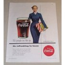1954 Coca Cola Color Soda Print Ad - For People On The Go